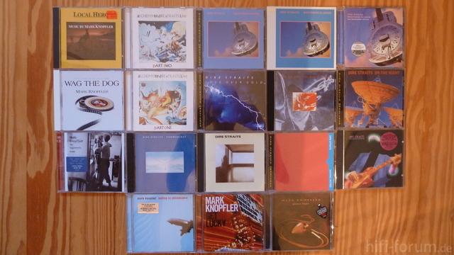Meine Aktuelle Dire Straits CD-Sammlung