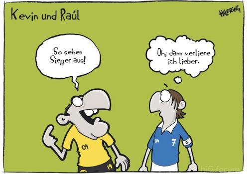 Cartoon Revierderby Raul Kevin Sieger Bvb Schalke