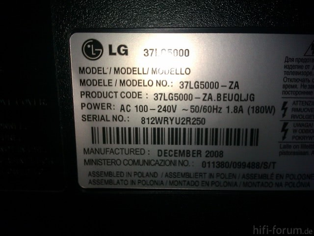 LG 37LG5000 Spint