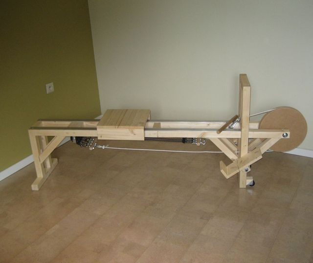 build your own water rowing machine