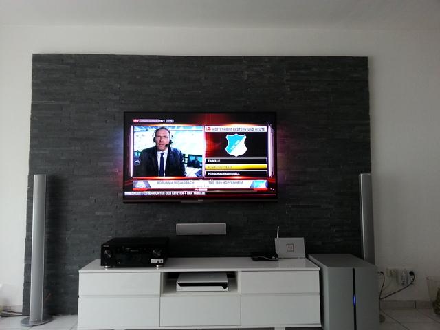 Steinwand im innenbereich verschiedene for Tv steinwand