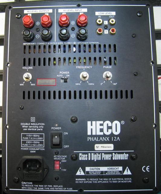 HECO PHALANX 12A - Back