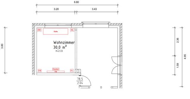 Wohnzimmer-Aufstellung