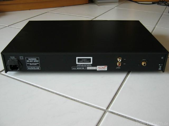 Audiolab 8000CDE Hinten