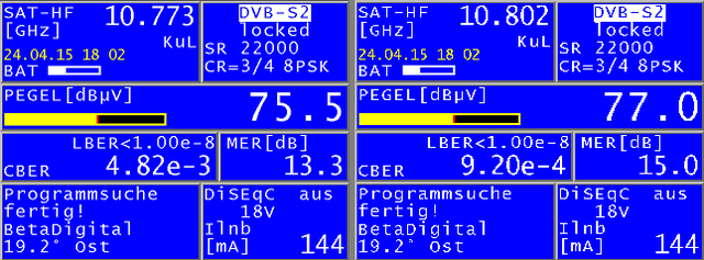 Vergleich 10773 / 10803