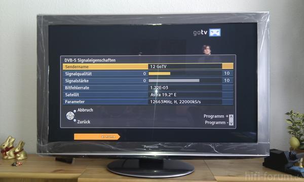 Empfangsqualität GoTV