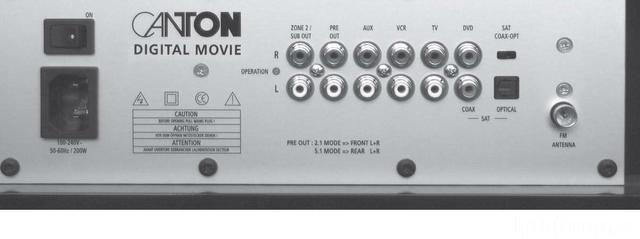 Canton DM 90 Rückseite