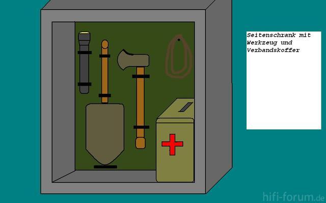 310711151414 Seitenschrank Werkzeug