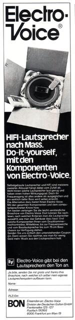 Electro Voice Lautsprecher-Chassis 1978