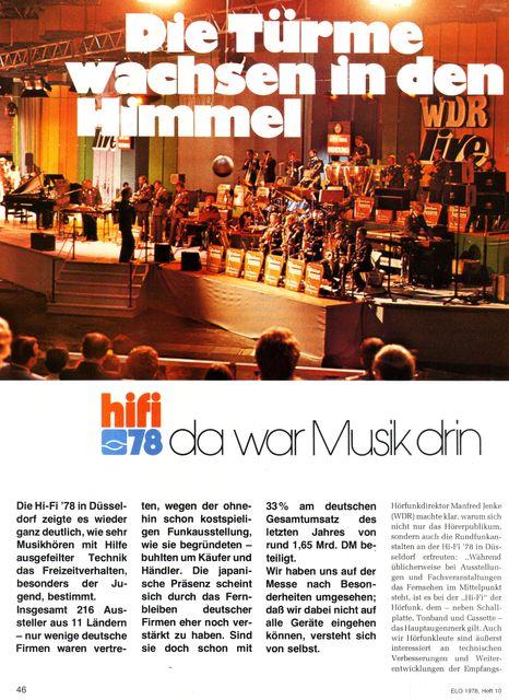 "Reportage ""hifi 78""-Messe (ELO, 1978) - 1"