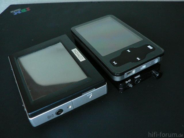 MP3-Player Dickenvergleich