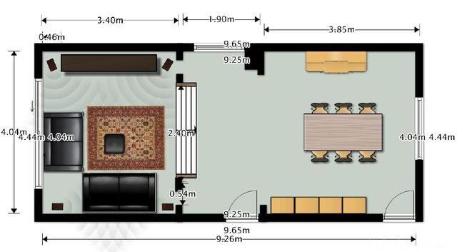 Grundriss Wohnraum