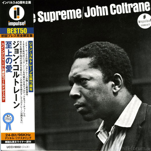 Coltrane Love Supreme Cover