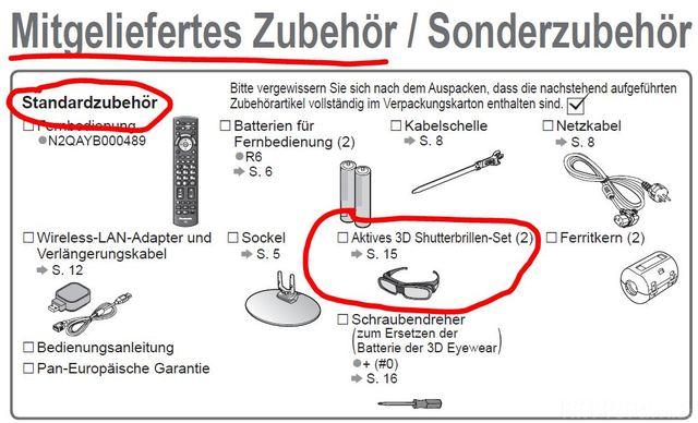 Zubehoer Panasonic