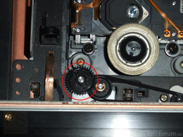 Sony CDP-X55ES Zahnräder Laufwerksmechanik