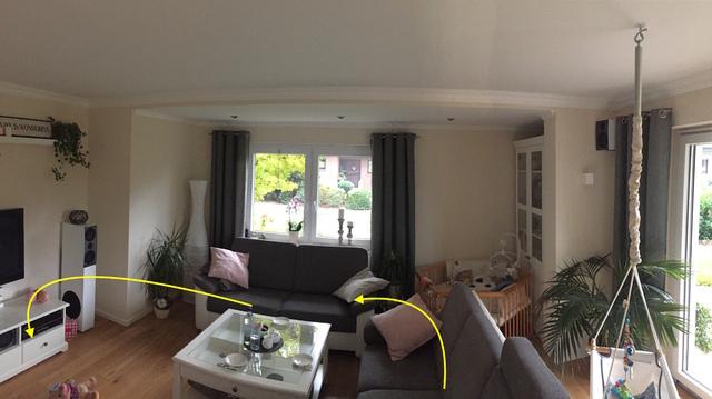 Wohnzimmer Blick AUF Sitzposition