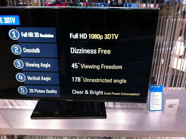 Samsung UE46D6500 Auf Der IFA 2011 Mit Werbetext Bzgl. 3D-FullHD