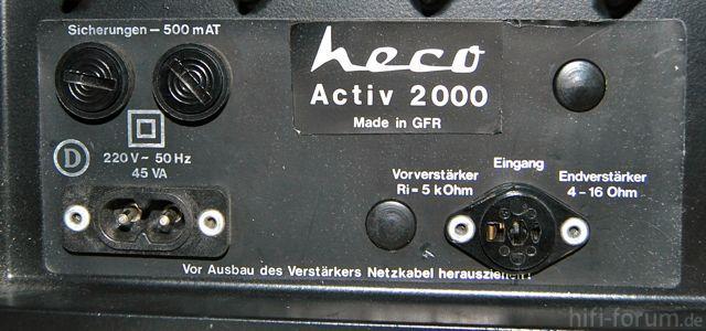 "Heco Active 2000 Ohne ""k"""