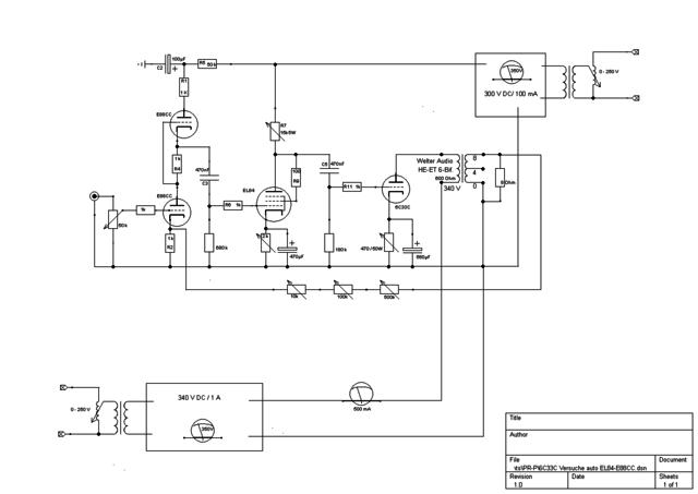 6C33C Versuche auto EL84-E88CC