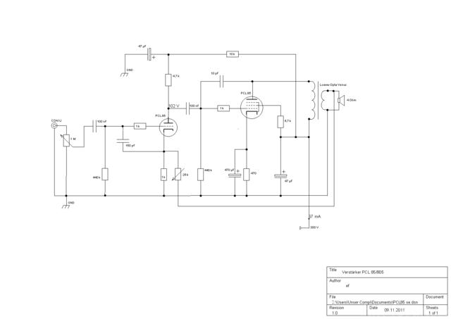 Verstärker PCL 85