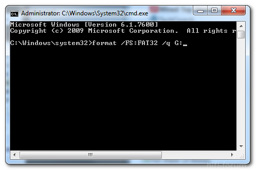 Cmd Prmpt Fat32 Format