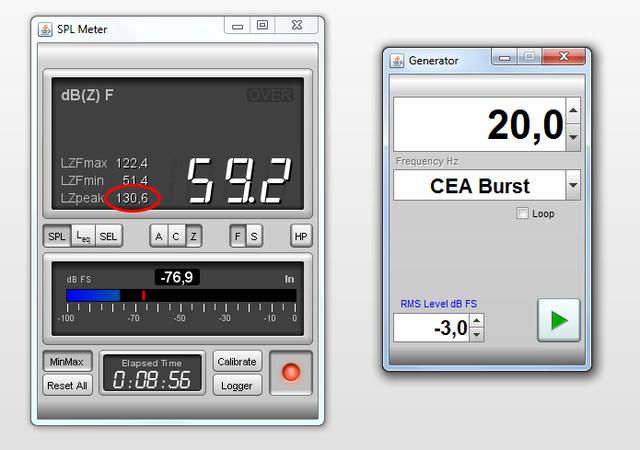 SPLmax (20 Hz)