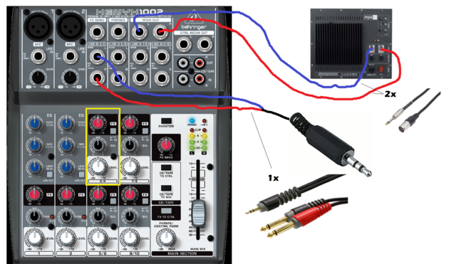 how to connect behringer eurorack ub802 mixer to laptop