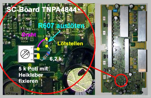 R607 - SC-Board TNPA4844 Modifizierung