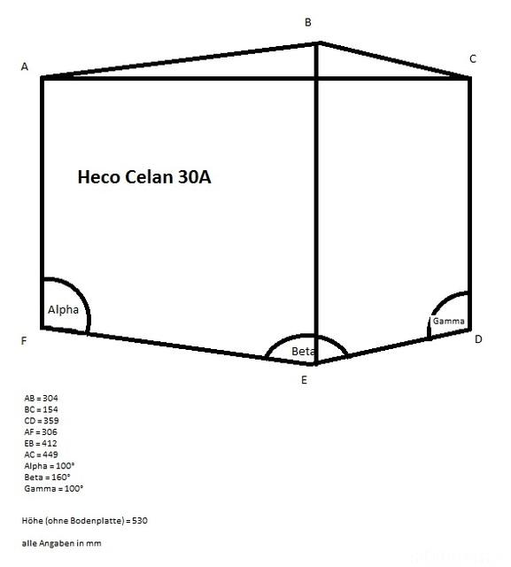 Heco Celan 30A Maße
