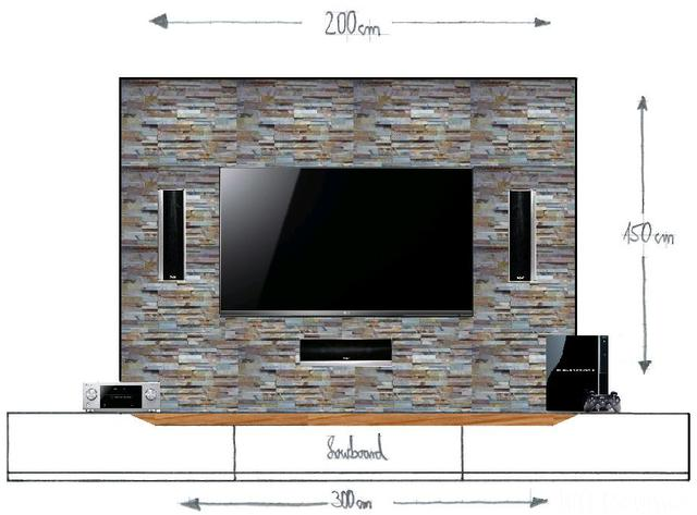 vorbauwand f r tv center frontspeaker material tipps. Black Bedroom Furniture Sets. Home Design Ideas
