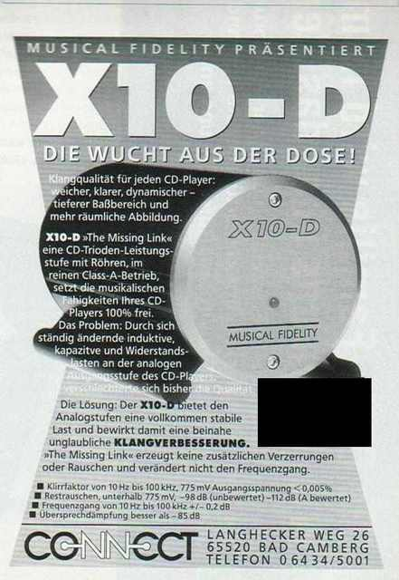 Musical Fidelity Anzeige X10 D