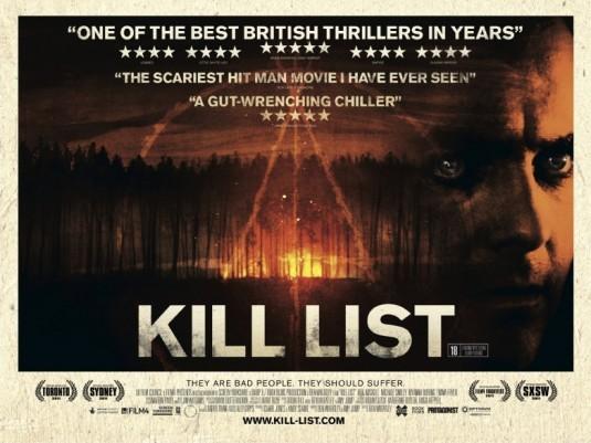 Kill List 2011 Poster Braun Neu