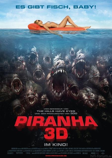 Piranha 3d Poster De Large Xxl 2010