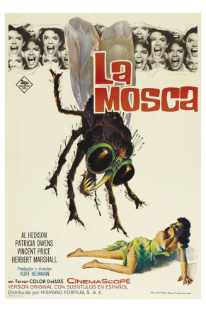 The Fly Spanish Movie Poster 1958