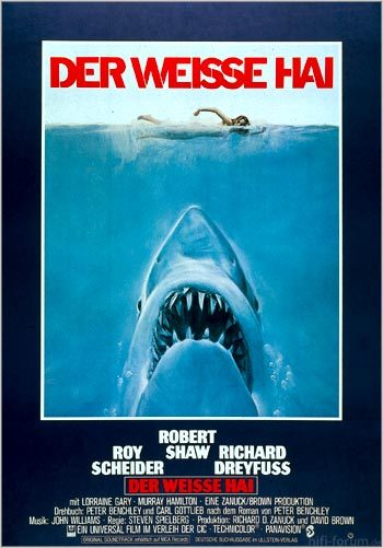 Weisse Hai Plakat Gr