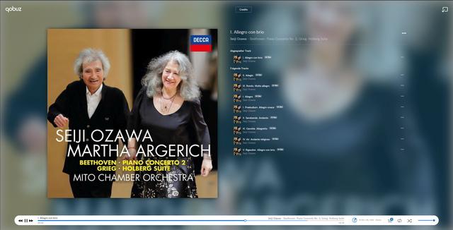 Beethoven Klavierkonzert Nr. 2 Argerich, Ozawa, Mito Chamber Orchestra