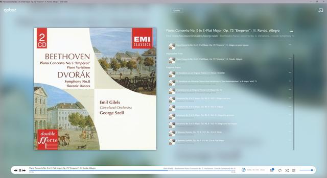 Beethoven Klavierkonzert Nr. 5 Giles, Szell, Cleveland Orchestra