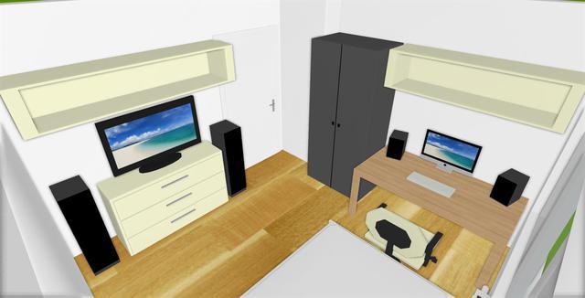 Mein Zimmer als 3D Bild