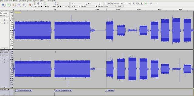 1 kHz Testtöne von Platte