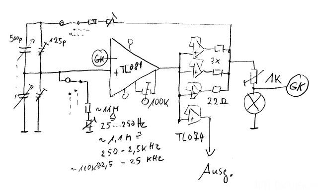 Sinus-Generator Schaltbild