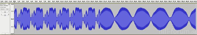 Überlagerung aus Lichtschranke und Konst. Frequenz
