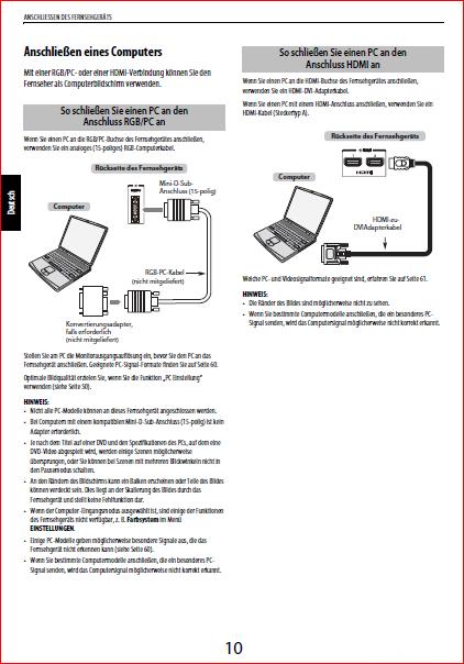 Toshiba Anleitung PC