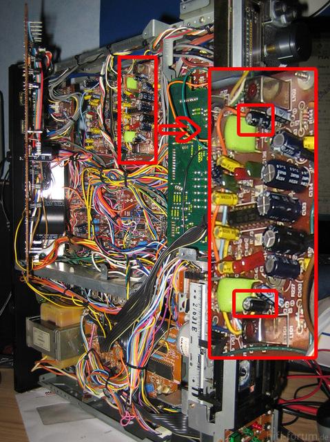 Onkyo TA-2070 Tapedeck, Falsch Gepolte Kondensatoren Von Werk Aus