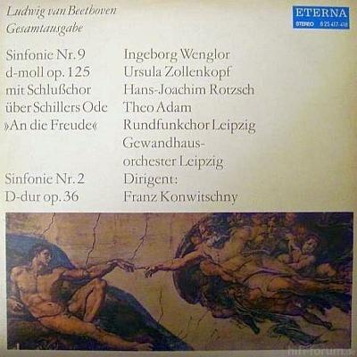 Ludwig Van Beethoven Eterna 8 25 417-418 1972