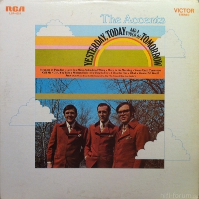 The Accents - Yesterday, Today And A Touch Of Tomorrow 1970