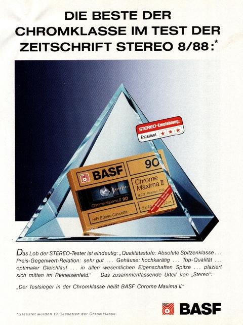 Kassettenwerbung Aus Stereo 12/88