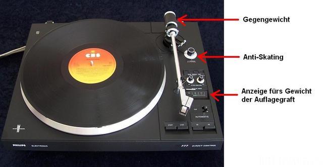 Philips Plattenspieler AF 777