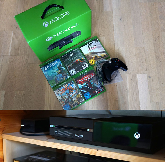 biete xbox one 500gb inkl 5 spiele und kopfh rer pc. Black Bedroom Furniture Sets. Home Design Ideas