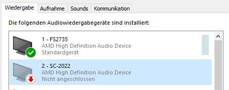Windows Sound Einstellungen