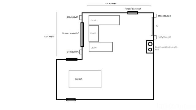 Skizze Wohnesszimmer